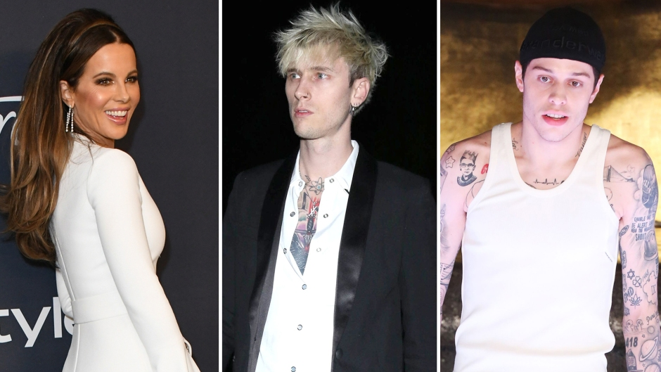 Kate Beckinsale Spotted Leaving Golden Globes Party With Machine Gun Kelly, Pete Davidson's Friend