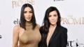 Kim Kardashian West and Kourtney Kardashian attend the 'The Promise' film premiere.