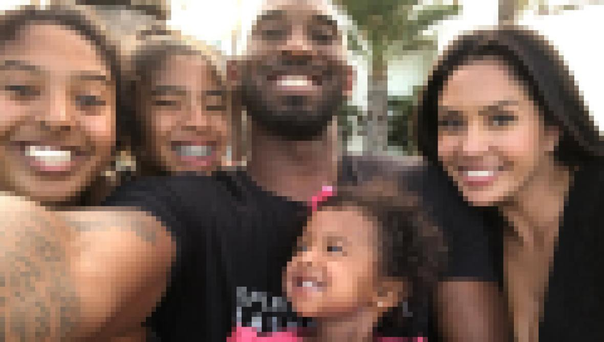 Kobe Bryant With His 4 Daughters