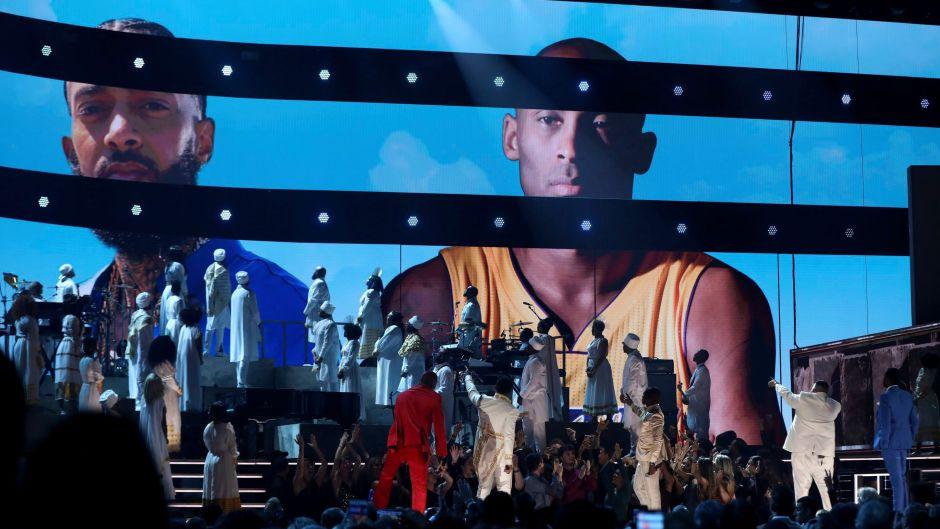 Kobe Bryant and Nipsey Hussle Tribute at the Grammys