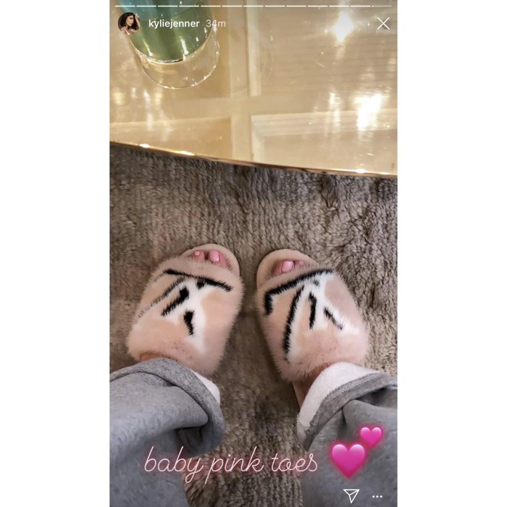 Kylie Jenner Posts 1500 Mink Fur Slippers