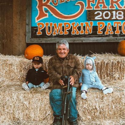 Matt Roloff Takes Pumpkin Patch Photo With Ember and Jackson