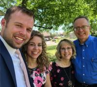 Abbie and John David Duggar With Her Parents