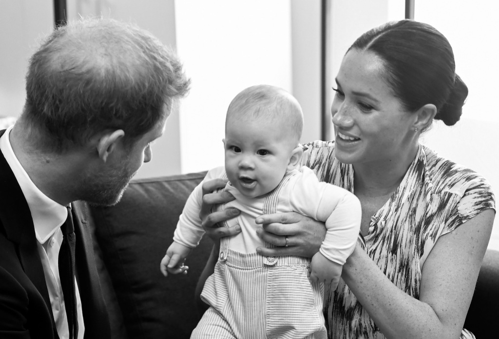 Meghan Markle With Archie and Prince Harry