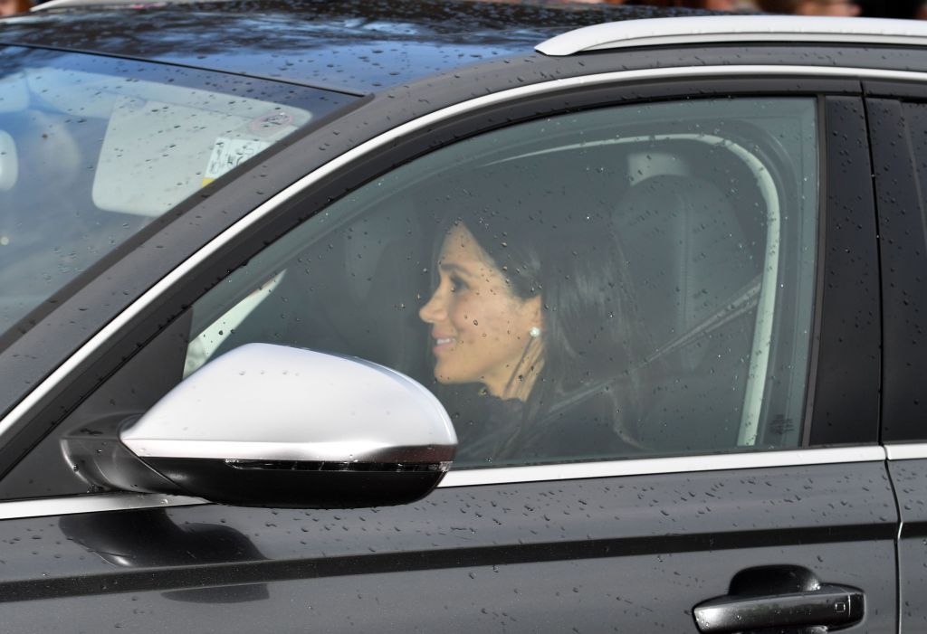 Meghan Markle Driving in a CAr