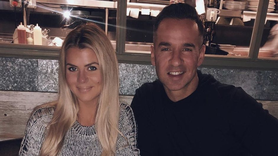 Mike Sorrentino With His Wife Lauren at Dinner