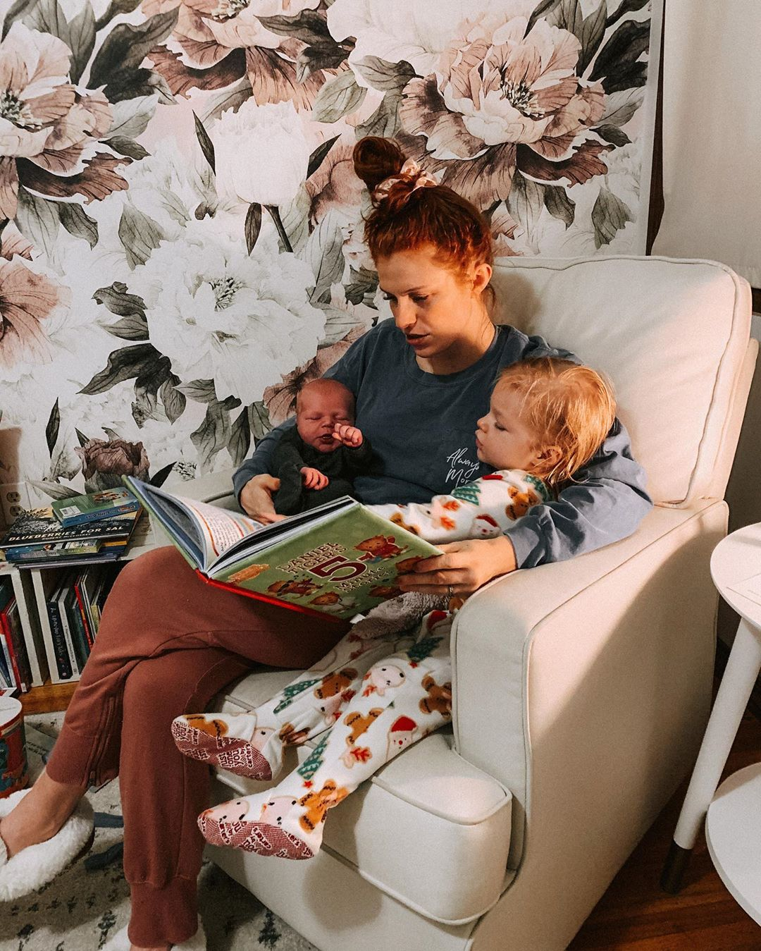 Mom Audrey Roloff Reads to Ember and Bode