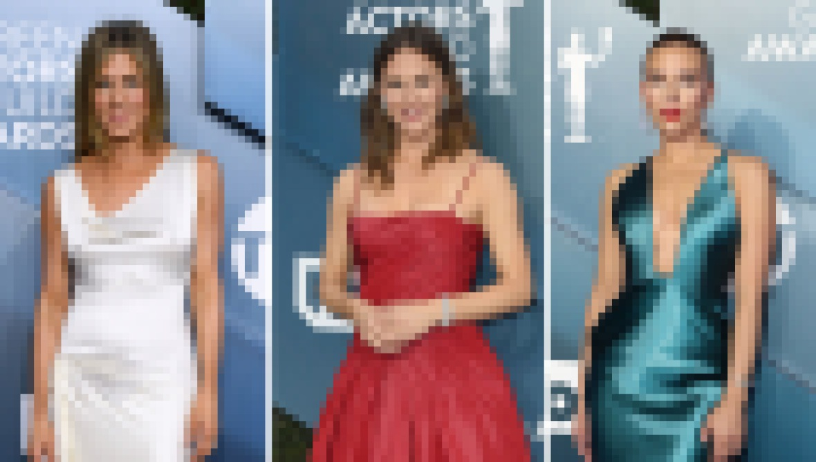 SAG Awards 2020 red carpet Jennifer Aniston Jen Garner Scarlett