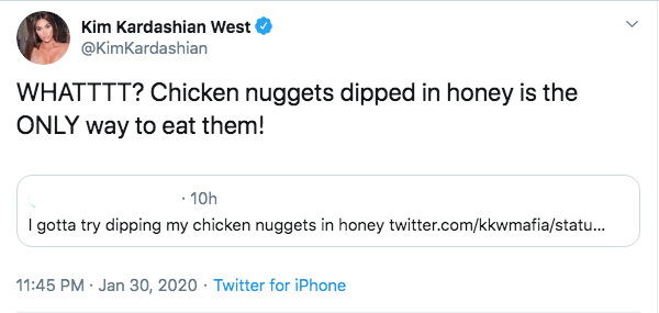 kim-kardashian-honey-chicken-nuggets-tweet