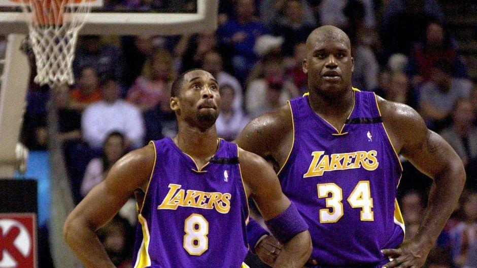 Shaq and Kobe Bryant on the Basketball Court
