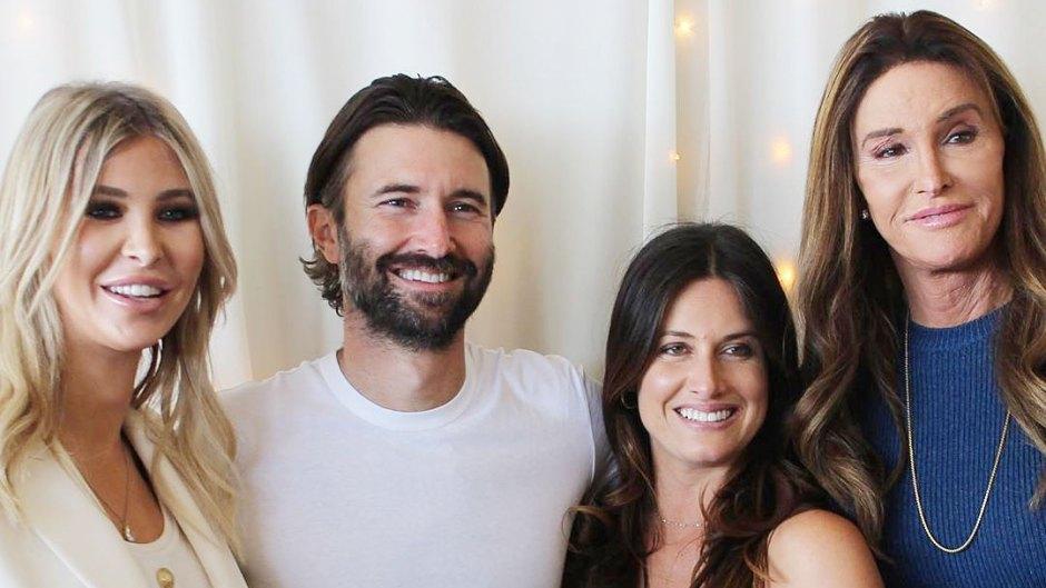 Sophia Hutchins Brandon Jenner Cayley Stoker and Caitlyn Jenner at Cayleys Baby Shower