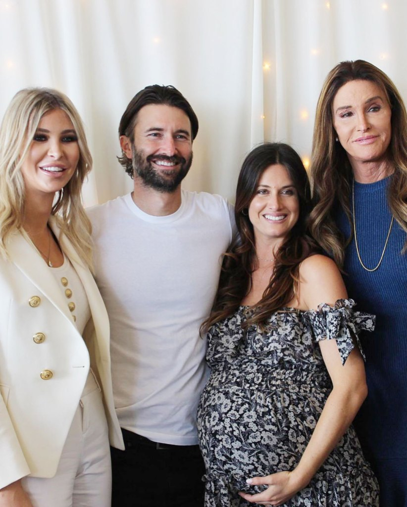 Sophia Hutchins Brandon Jenner Cayley Stoker and Caitlyn Jenner at Cayleys Baby Shower