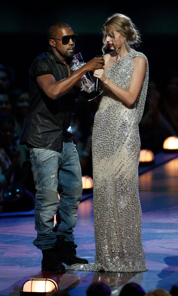 Taylor Swift Wearing a Sparkly Dress With Kanye West