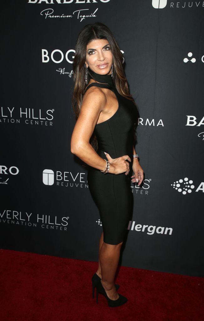 Teresa Giudice Wearing a Black Dress