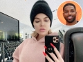 Inset Photo of Tristan Thompson Over Khloe Kardashian Selfie