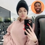Inset Photo of Tristan Thompson Over Khloe Kardashian Selfie