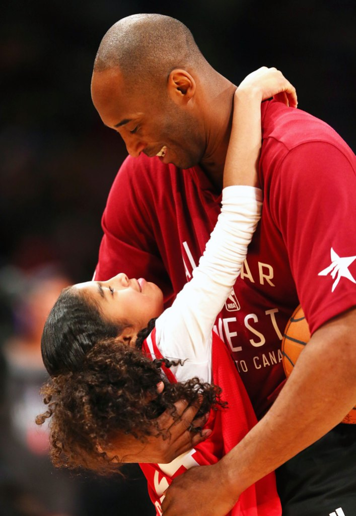 Kobe Bryant and Gianna Hugging Vanessa Bryant Honors Husband Kobe and Daughter Gianna After Tragic Deaths