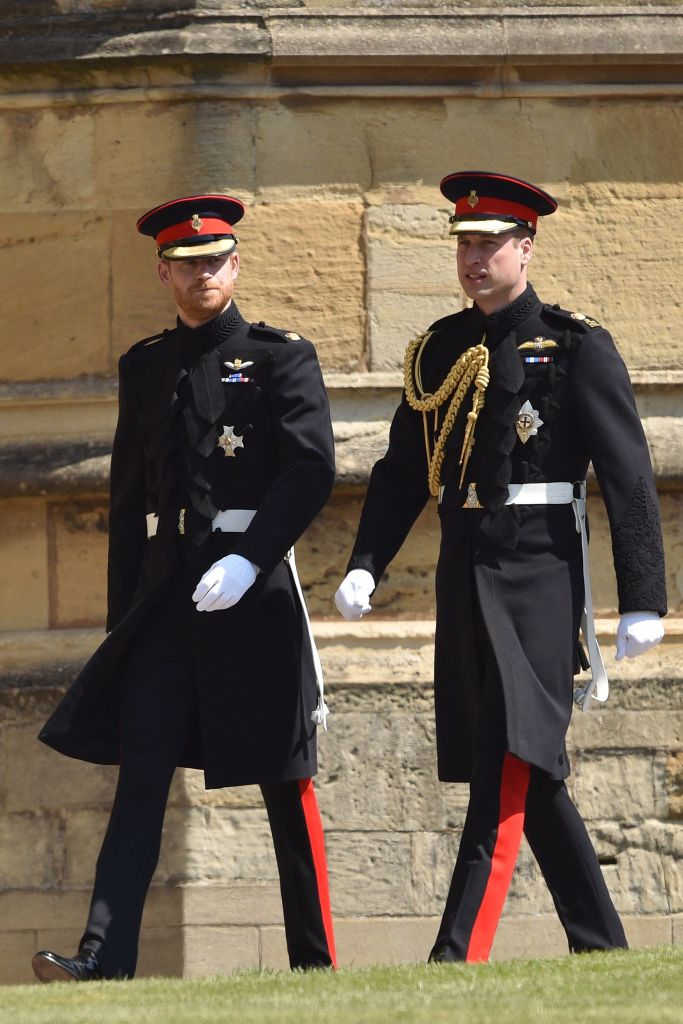 Prince William and Harry Wearing Matching Suits