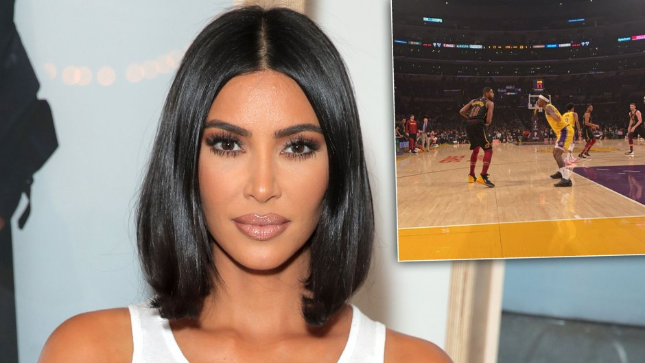 Kim Kardashian Sits Courtside at Khloe's Ex Tristan Thompson's Cavs Game Against the Lakers