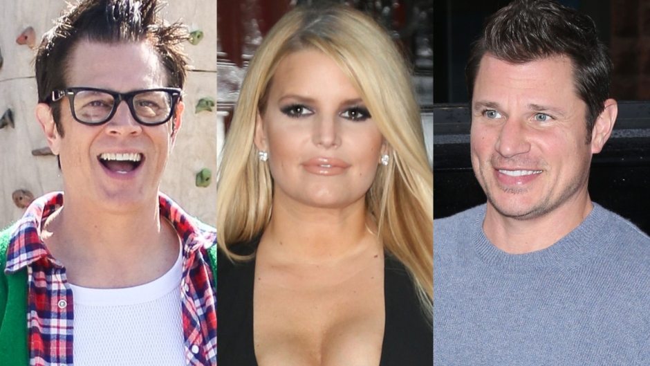 Johnny Knoxville, Jessica Simpson and Nick Lachey