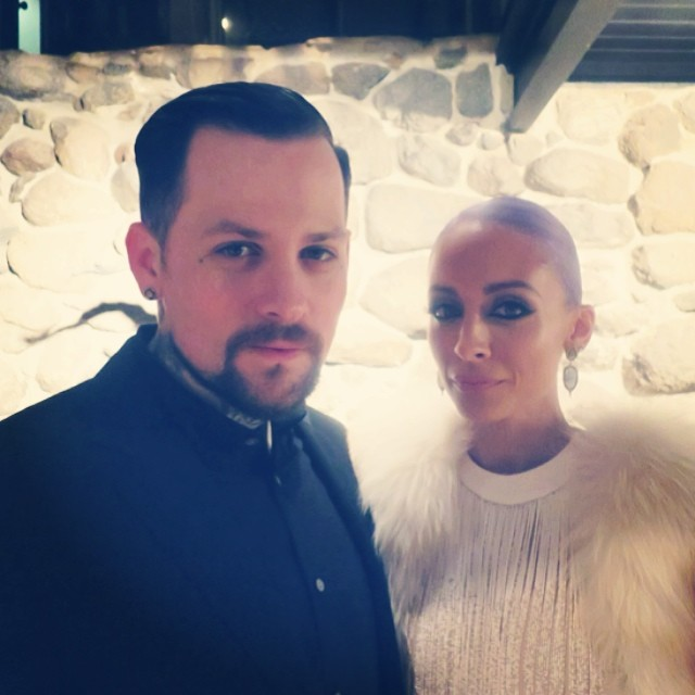 Benji Madden in a Suit With Nicole Richie