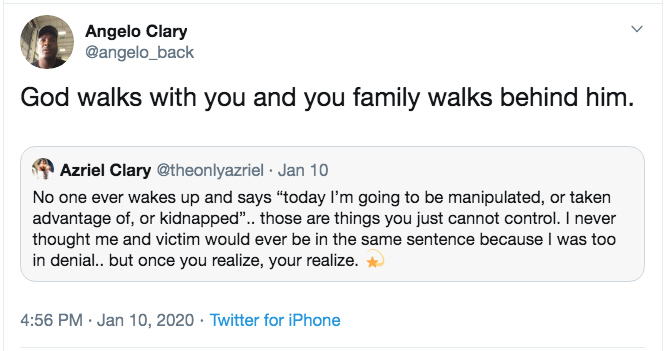 r. kelly's ex-girlfriend azriel clary's father supports her after alleged altercation