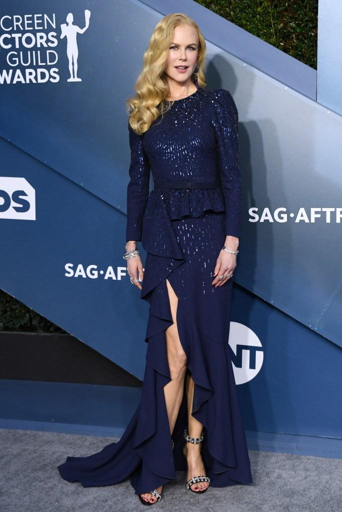 Nicole Kidman Blue Gown 2020 SAG Awards