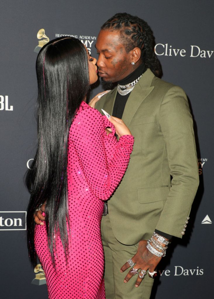 Cardi B and Offset Clive Davis' 2020 Pre-Grammy Gala, Arrivals, The Beverly Hilton, Los Angeles, USA - 25 Jan 2020