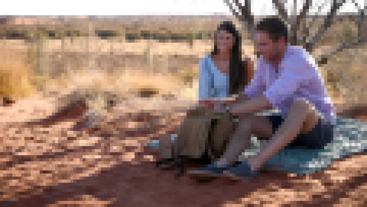 Bachelor peter Weber and Madison Prewett Sit on a Blanket in Australia