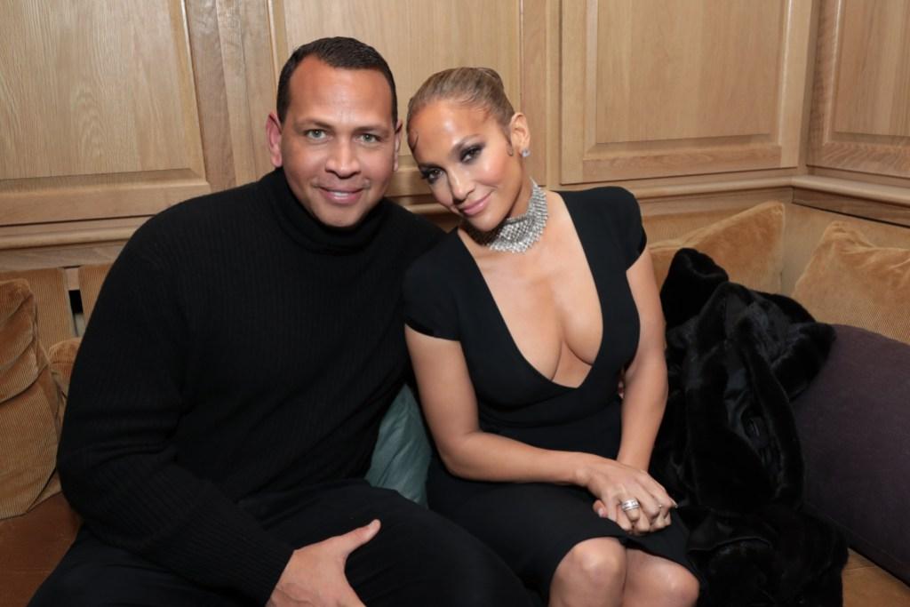 Alex Rodriguez and Jennifer Lopez CAA Pre-Oscar Party
