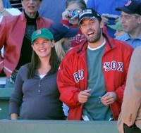 Ben Affleck With Jennifer Garner at the Red Sox Game