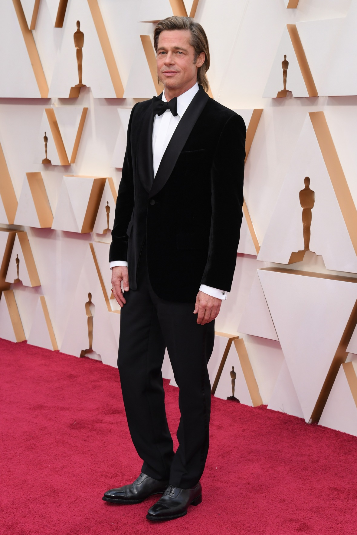 Brad Pitt Wearing a Tuxedo at the Oscars