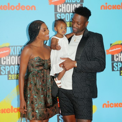 Dwyane Wade and Gabrielle Union With Daughter Kaavia James