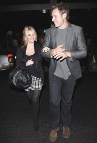 Jessica Simpson Wearing a Black Outfit With Eric Johnson