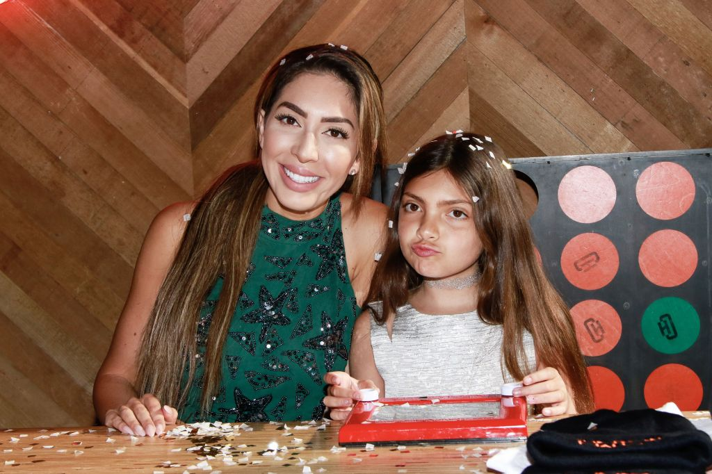 Farrah Abraham With Sophia Abraham Playing a Game