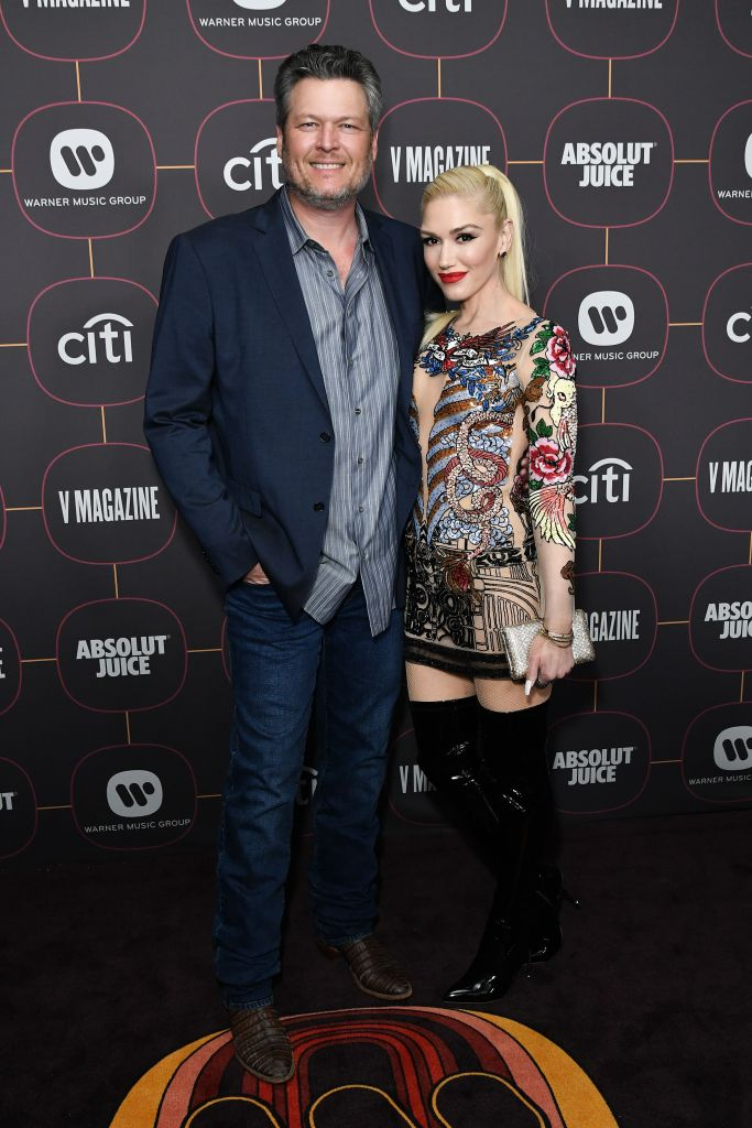 Blake Shelton With Gwen Stefani on a Red Carpet