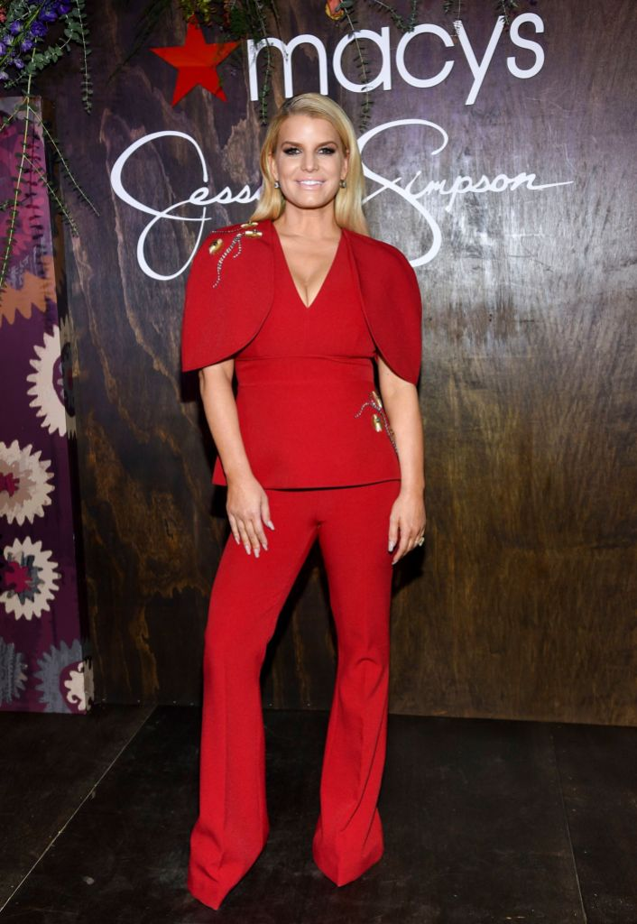 Jessica Simpson Wearing Red at an Event