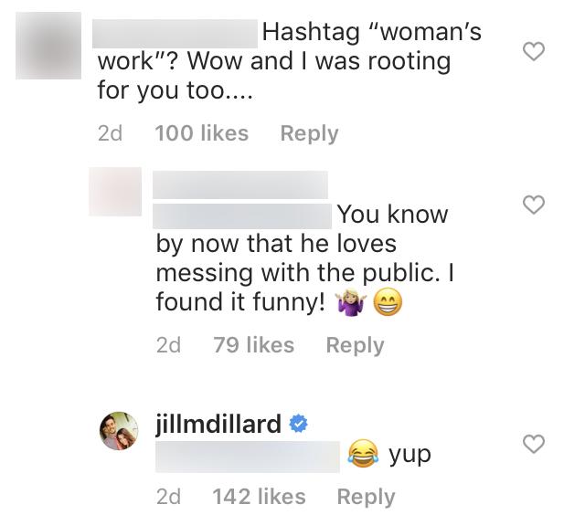 Jill Duggar Hints Derick Dillard Is Teasing After Fan Hate Over Womans Work Post