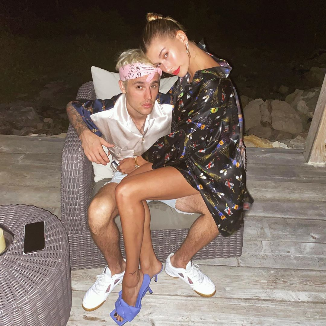 Justin Bieber and Hailey Baldwin Cuddle on Instagram on New Year's Eve 2019