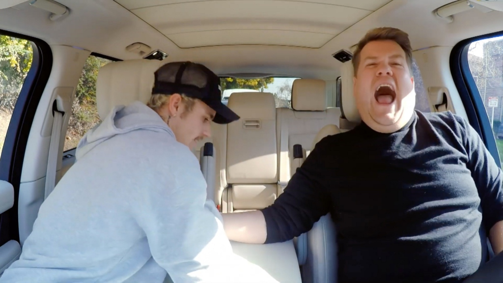Justin Bieber arm Wrestles James Corden