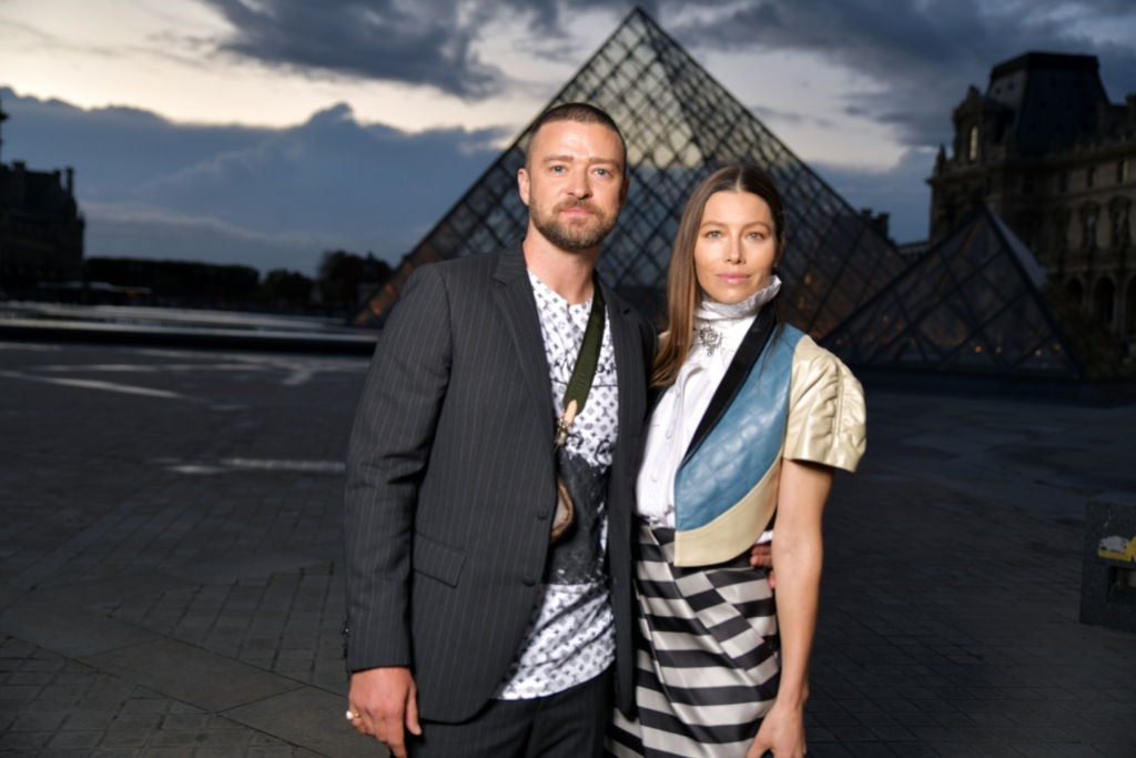 Jessica Biel and Justin Timberlake in France