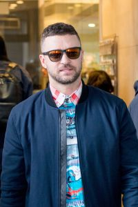 Justin Timberlake Wearing Sneakers in London