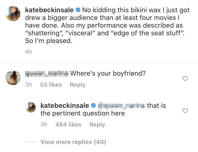 Kate Beckinsale Has Epic Response When Someone Asks Where Her Boyfriend Is During Bikini Wax