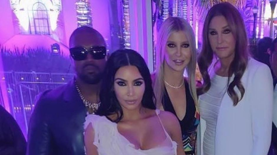 Kim Kardashian and Kanye West 'Hung Out' With Caitlyn Jenner and Sophia Hutchins at Oscars Party