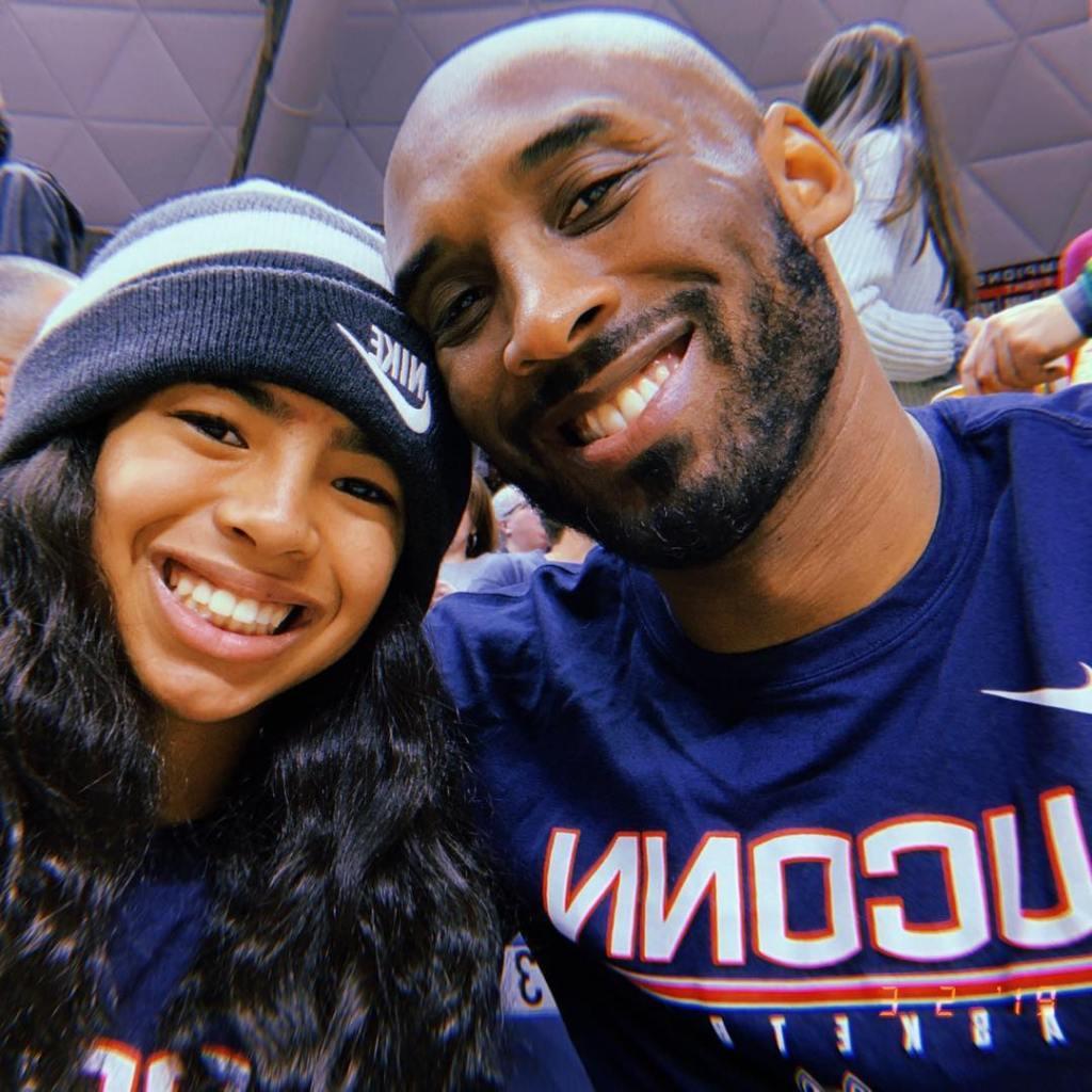 Kobe Bryant With Gianna at Uconn