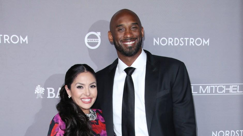 Vanessa Bryant Wearing a Pink Dress With Kobe Bryant