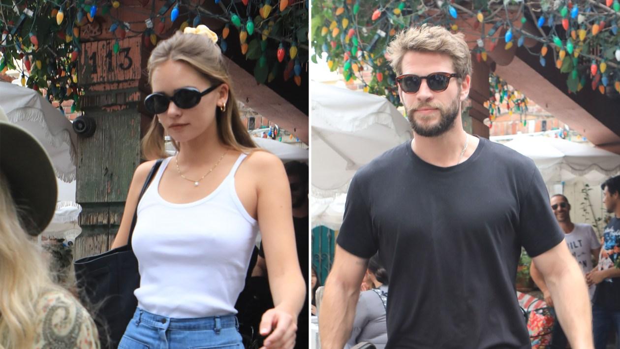 Liam Hemsworths girlfriend Gabriella Brooks sunbathing