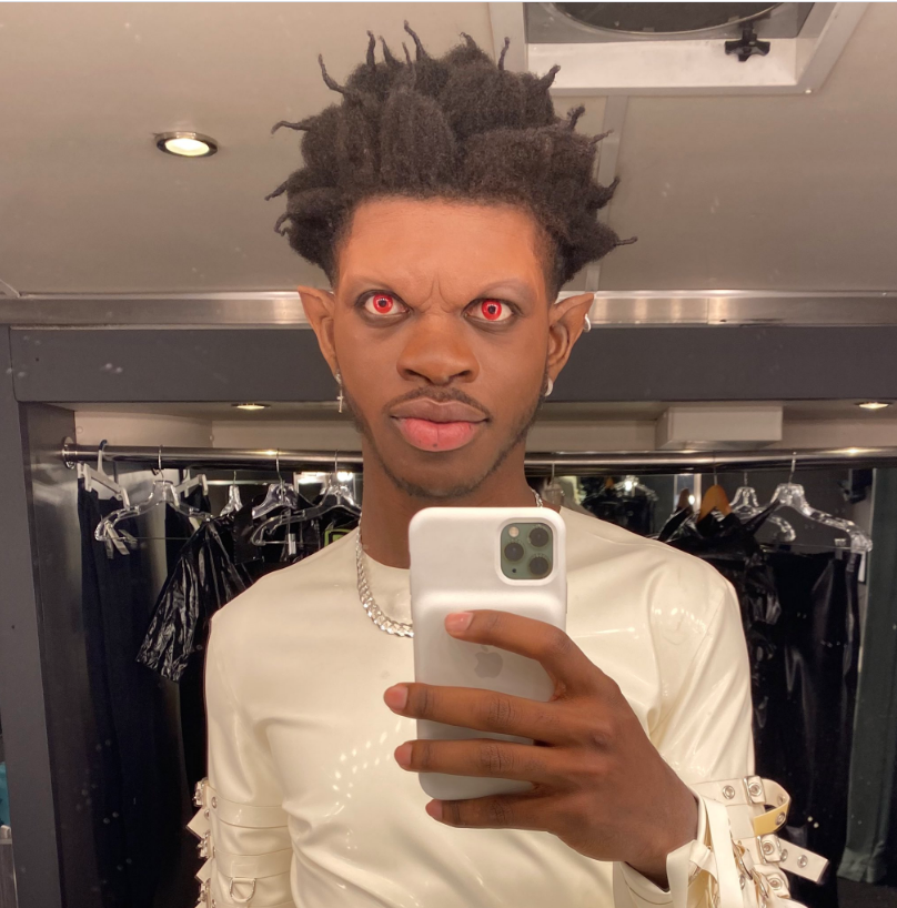 Lil Nas X Wearing Makeup for Rodeo