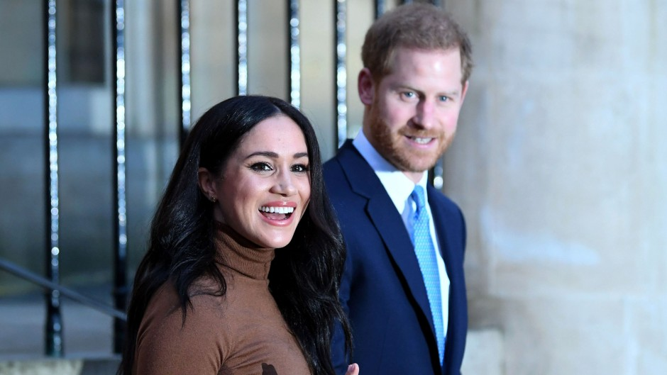 Meghan and Harry Waving to the Cameras