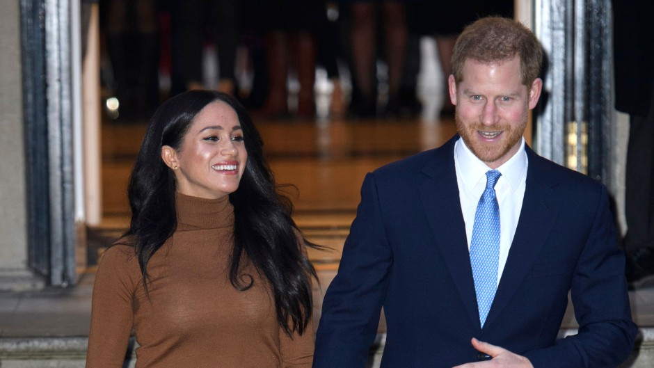 Meghan Markle and Prince Harry Walking Hand-in-Hand